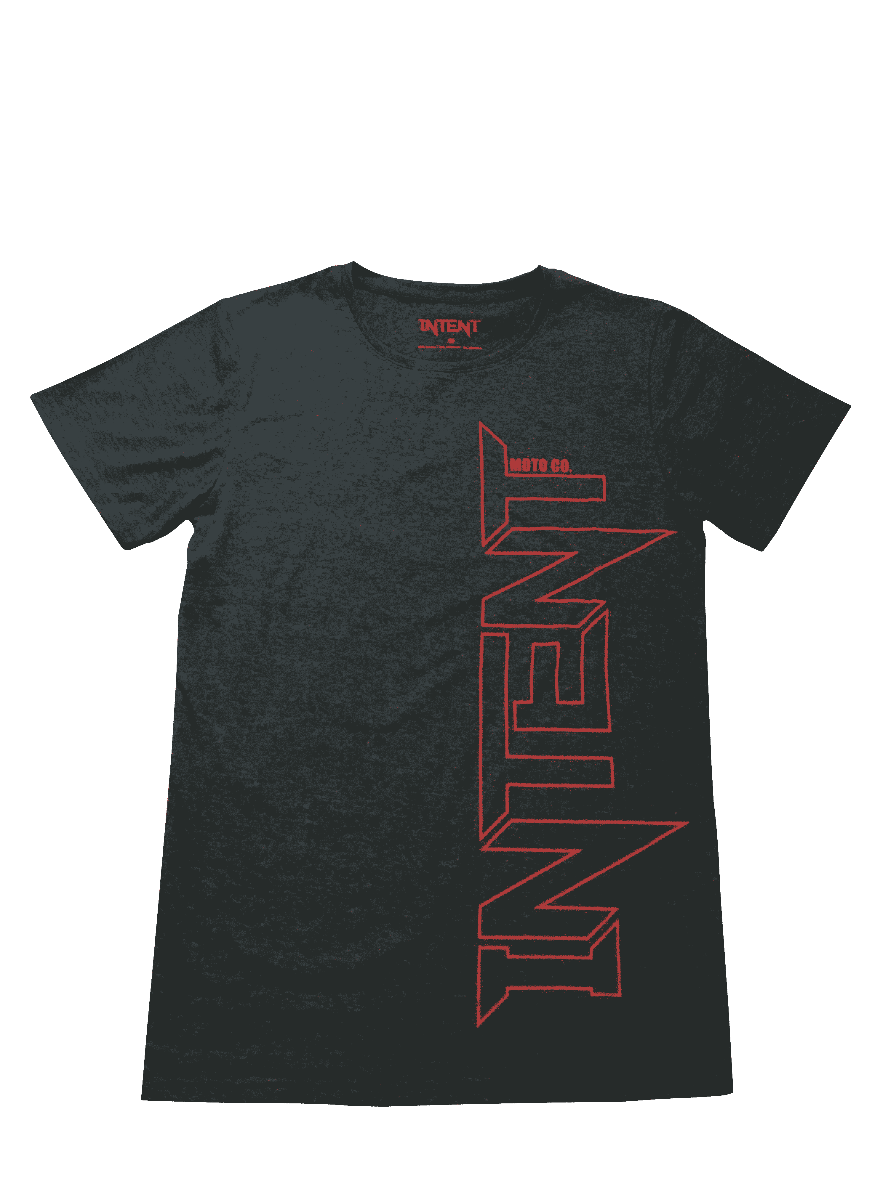 Intent Mx Framed T Shirt – Grey/Maroon