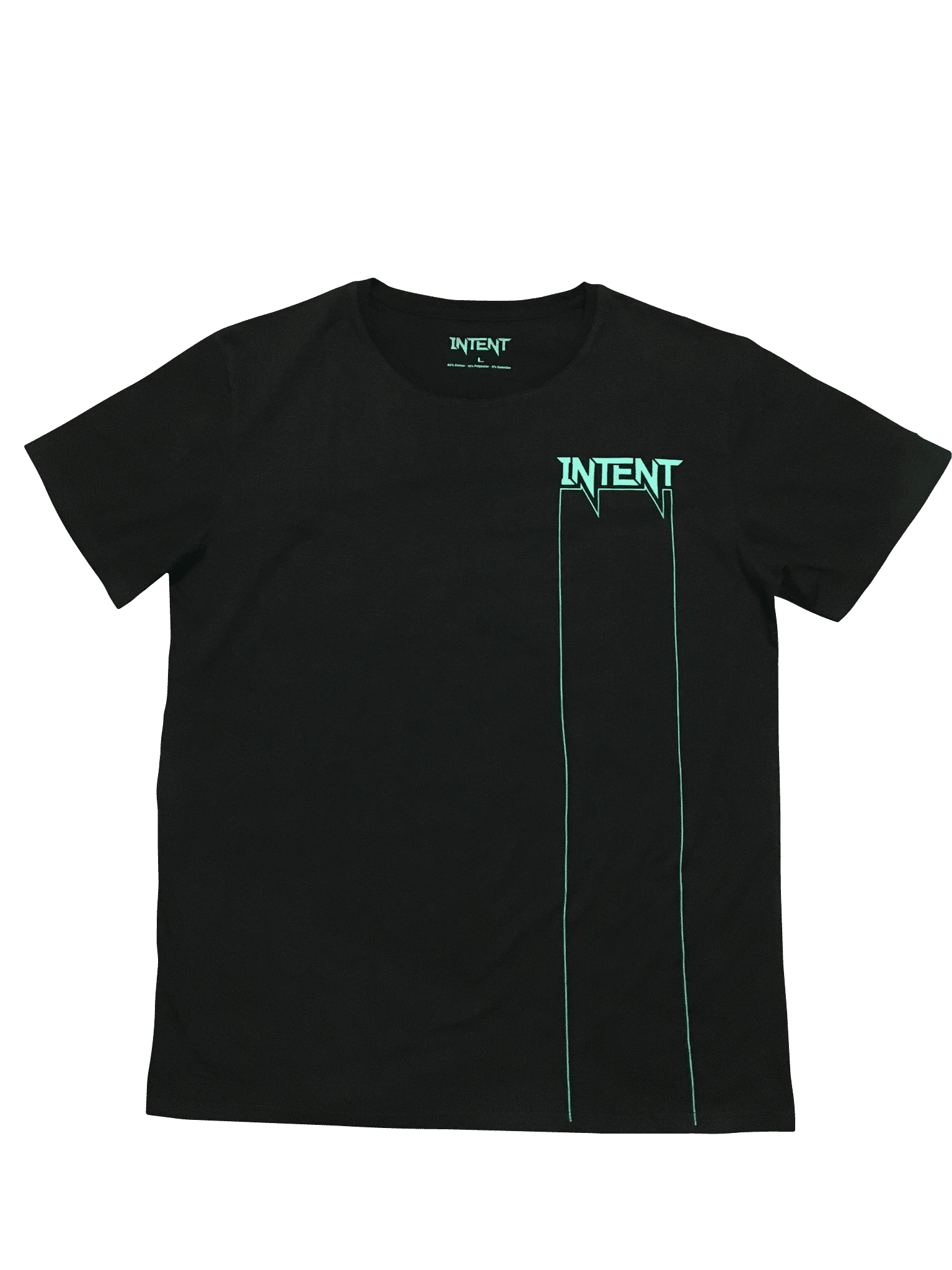 Black/Teal intent Mx Staple. Shirt