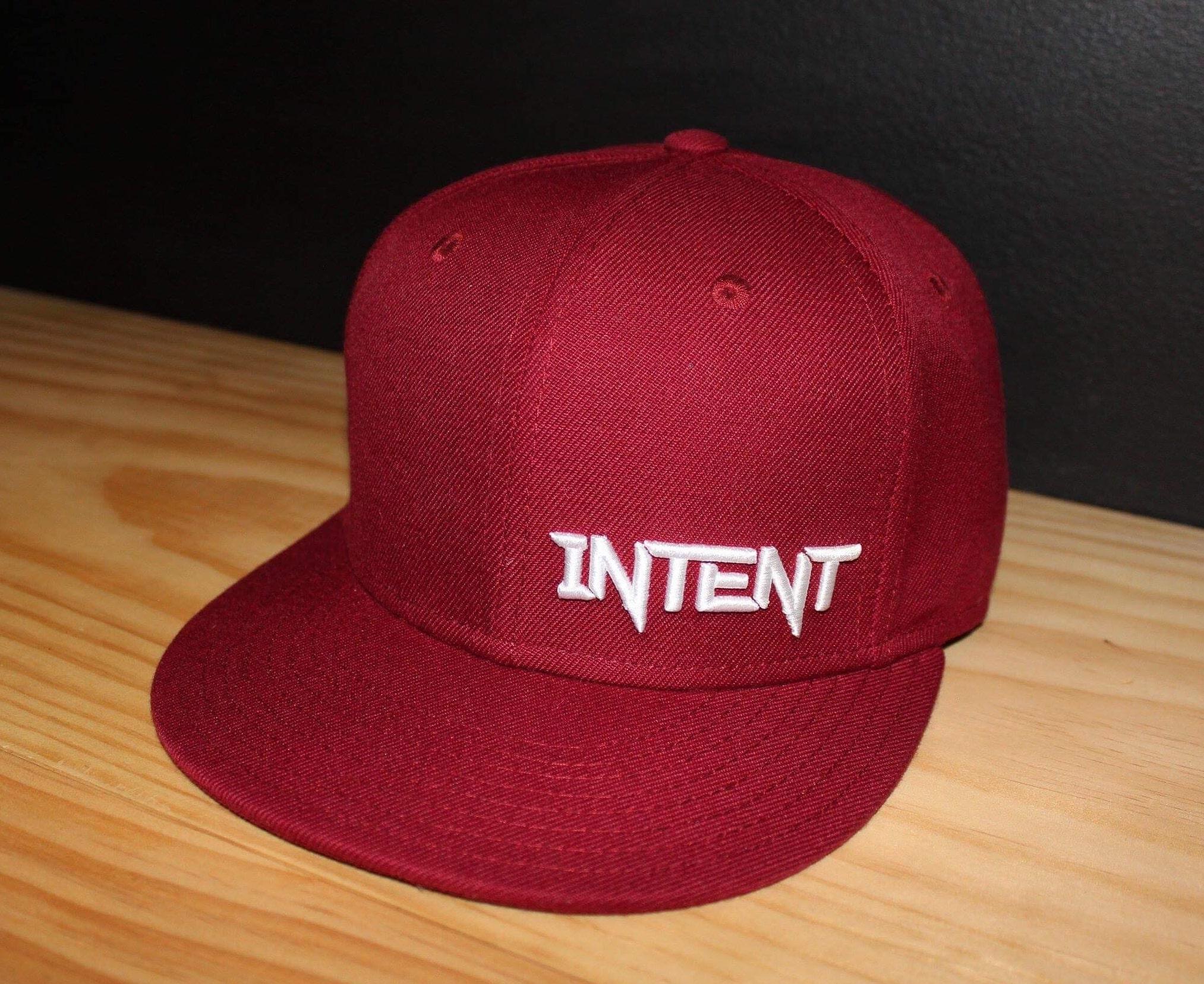 Intent Mx SnapBack Hat | Legacy – Maroon/White