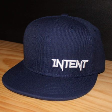 Navy and white SnapBack motocross hat