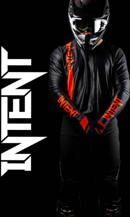 Intent Mx store red and black motocross gear. Fox gear, troy lee designs, shift , Thor and intent Mx gear sets