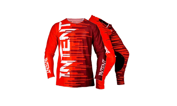 Infinite Moto Gear Set   Pinned – Red/Maroon