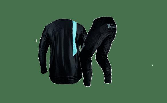 BlackOut Gear Set – Pinned – Back -Black – Teal – Final