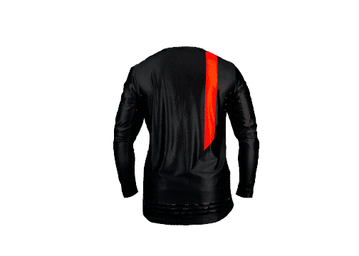 BlackOut Pinned Jersey Back -Black -Red