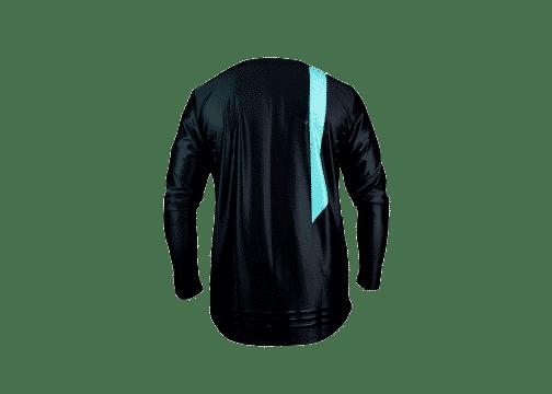 BlackOut Pinned Jersey Back -Black -Teal