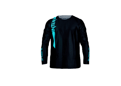BlackOut Pinned Jersey Front -Teal