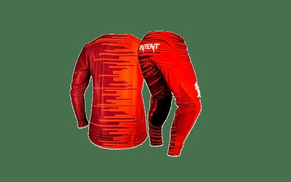 Infinite Moto Gear Set | Pinned – Red/Maroon