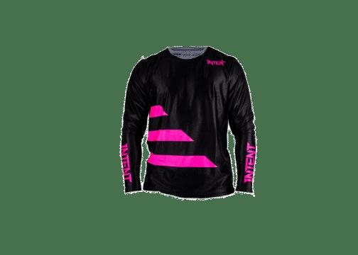 Infinite Moto Jersey | Strike – Fluoro Pink / Black