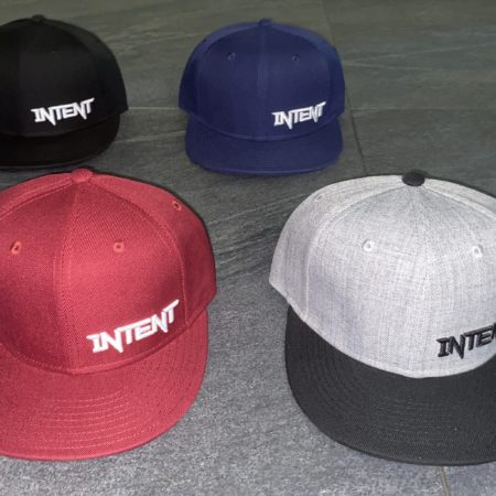 Intent Mx Store SnapBack hats in 4 colourways for style comfort & quality