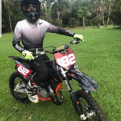 High quality white and black motocross gear worn by Jayden Binger