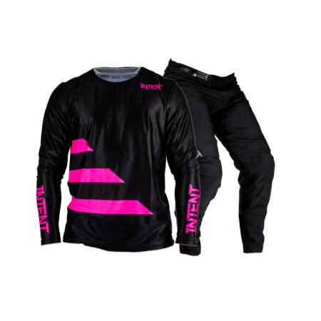 Black and pink dirt bike gear set