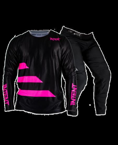 Black and pink dirt bike gear set
