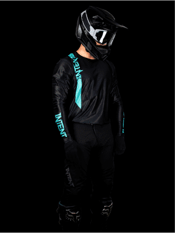 Black and teal mx gear in store