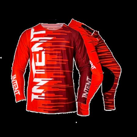 Infinite moto gear set | Quake - Red/Maroon
