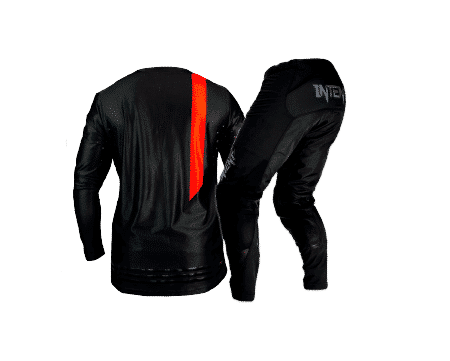 red and black dirt bike gear