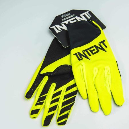 Black and yellow dirt bike gloves in store now
