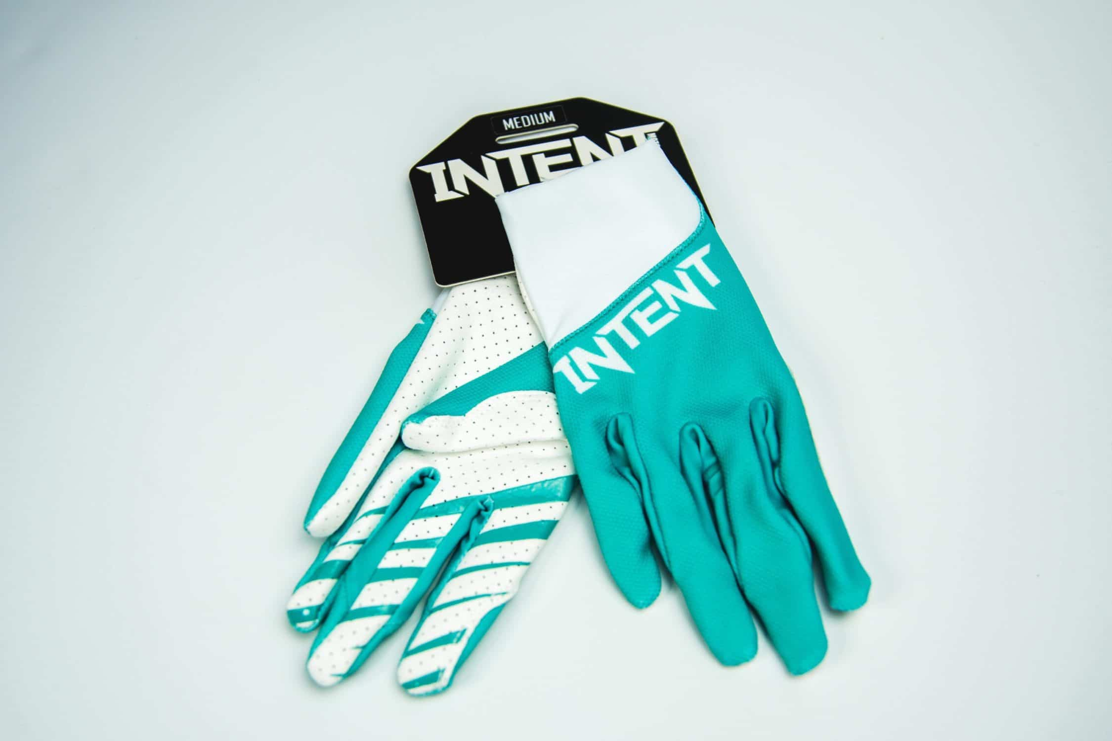 Intent Mx Legacy Motocross Gloves – Teal/White
