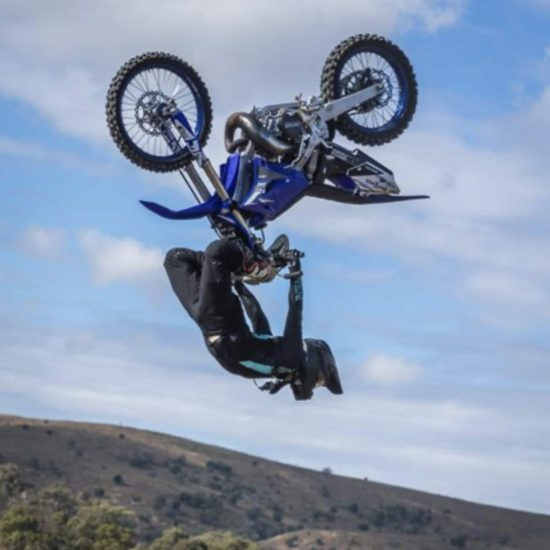 Callum Shaw freestyle motocross rider in the blackout teal Mx gear