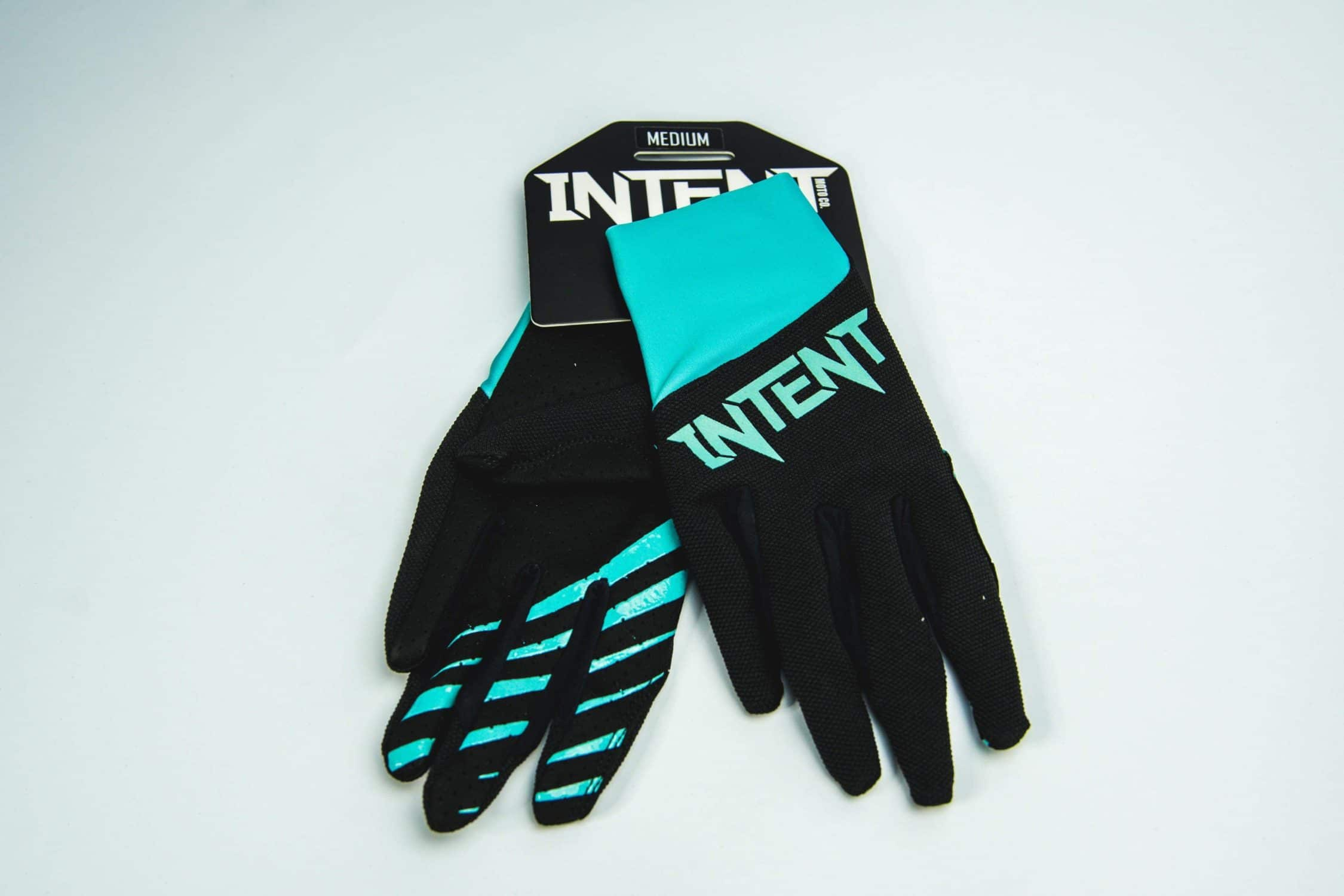 Intent Mx Motocross Gloves | Legacy – Black/Teal