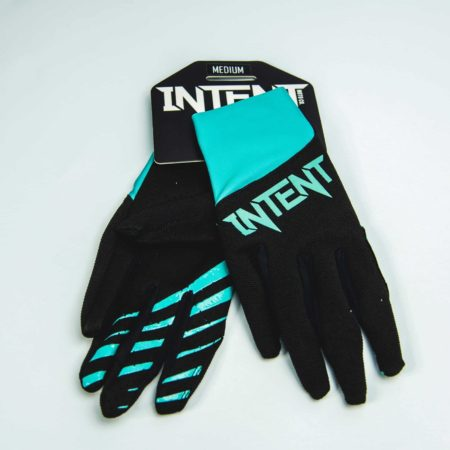 Black and teal intent Mx Motocross gloves