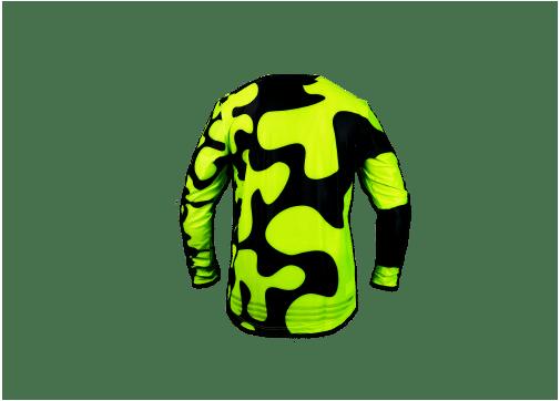 Jigsaw Jersey – Back – FloYellow – Black