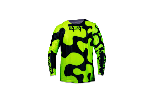 Jigsaw Jerseys – Front – FloYellow – Black