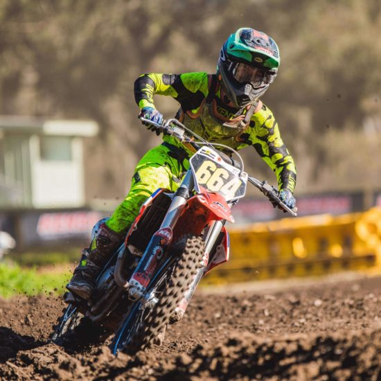 Hunter Collins In The Flo Yellow Motocross Gear Combo