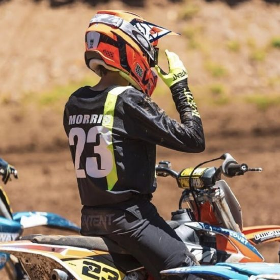Lachlan Morris in intent Mx gear including jersey, pant and gloves