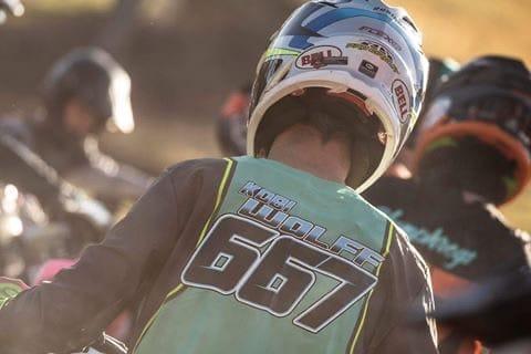 Kobi Wolff in the relapse dirt bike gear