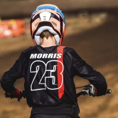 Lachlan Morris wearing the infinite pinned motocross jersey. Pinned Mx jersey - Red & black, available in the Mx store