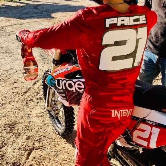 Deacon Paice in The Quake Motocross Gear