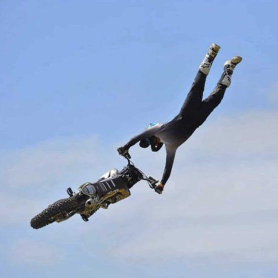 Shaun Webb in the Drapht dirt bike gear