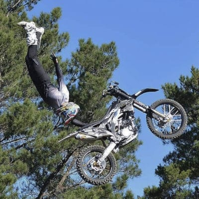 Grey dirt bike gear