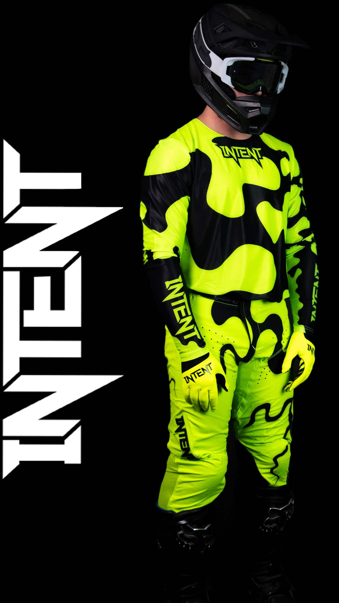 Infinite Moto Gear Set | Jigsaw - FluoroYellow/Black Motocross Gear