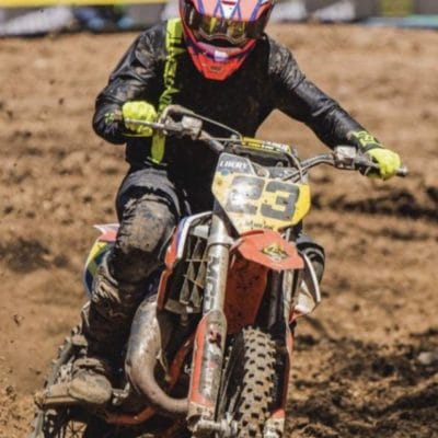 Lachlan Morris in our pinned Fluoroyellow and black motocross gear