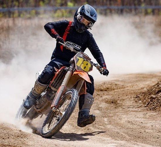 Black motocross gear