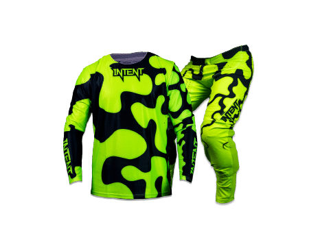 yellow motocross gear including Mx jersey and mx pants