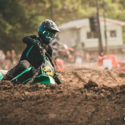 Cody Kilpatrick In the black & teal motocross gear