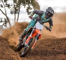 teal grey dirt bike gear
