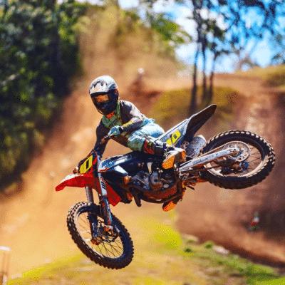 Teal dirt bike gear