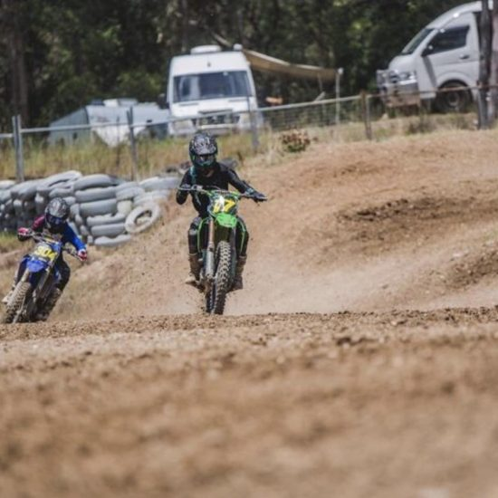 High speed straight away that Cody and his Kawasaki 250f are taking full advantage of. Staying cool in the high flow ventilation featured on the intent mx gear