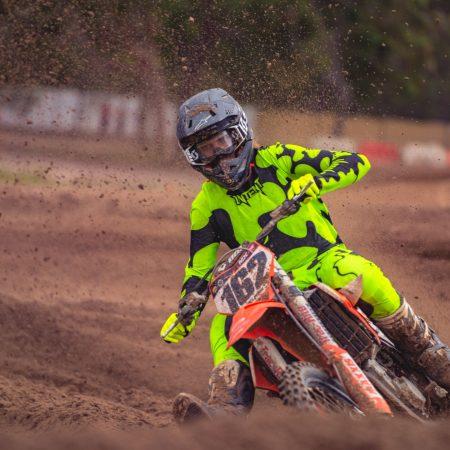 Luke Zielinski number 162 racing a ktm 450 machine wearing intent motocross gear