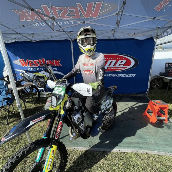 kobi wolff is a 2021 off road enduro rider for intent mx. an australian owned motocross gear brand