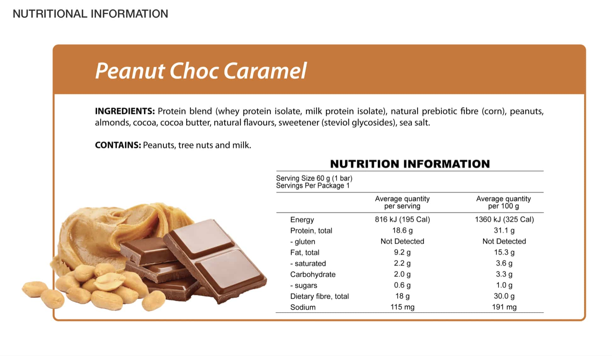 Delicious & Nutritious   Smart Diet Solutions Peanut Choc Caramel Protein Bars