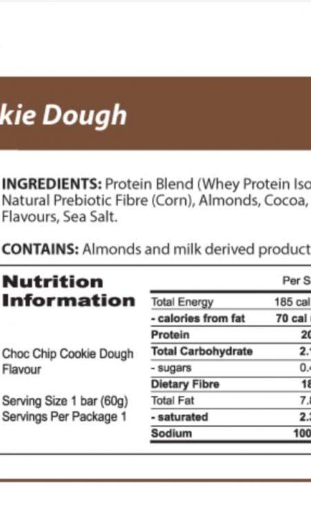 Protein Bar   Choc Chip Cookie Dough