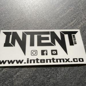 Intent Mx Brand Directory Sticker | 10x6cm – White/Black