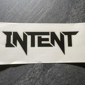 Intent Mx Brand Vinyl Sticker | 20x8cm – Black