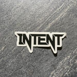 Intent Mx Brand Logo Sticker | 7x2cm – Black/Clear