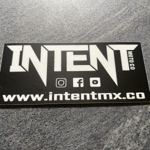 Intent Mx Brand Directory Sticker | 10x6cm – Black/White